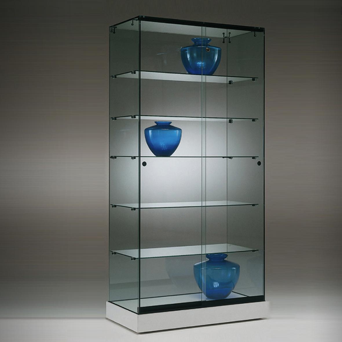 S6 Base Nova Frameless Glass Display Cabinet 1
