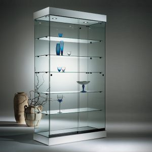 S6+PL Base Nova Frameless Glass Cabinet with illuminated Canopy