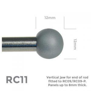 RC11 End Cap Satin Chrome