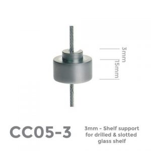CC05-3 3mm Shelf support for drilled panel