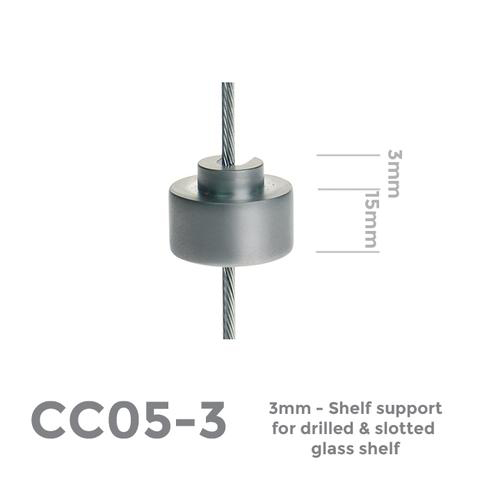 CC05-3 3mm support for drilled panel