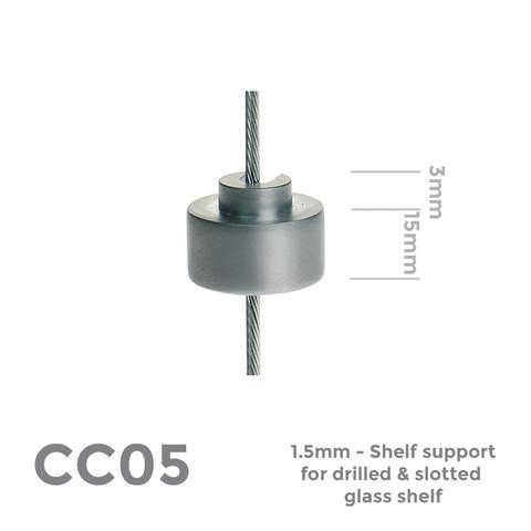 CC05 Shelf support for drilled panel