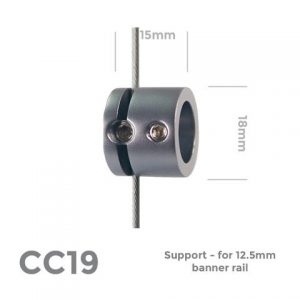 CC19 Support – for 12.5mm banner rail