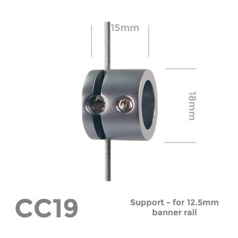 CC19 Support - for 12.5mm banner