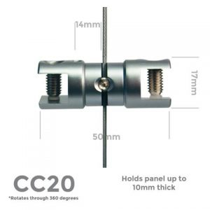 CC20 Rotating Double 10mm Panel Support