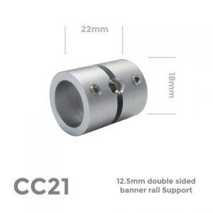 CC21 Double Sided Banner Rail Support