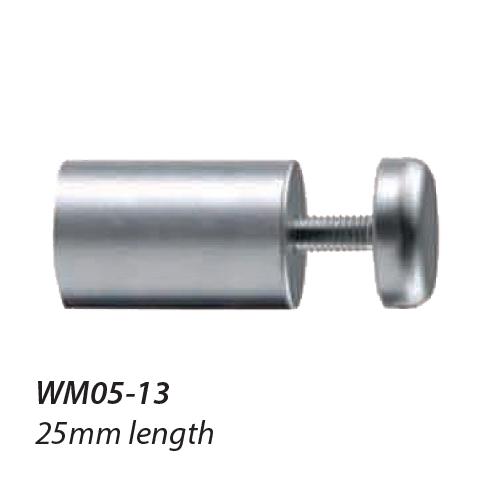 WM05-13 16mm diameter Satin Chrome Standoff 1