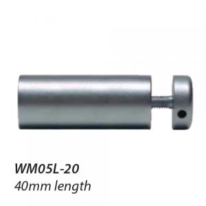 WM05L-20 16mm diameter Satin Chrome Standoff