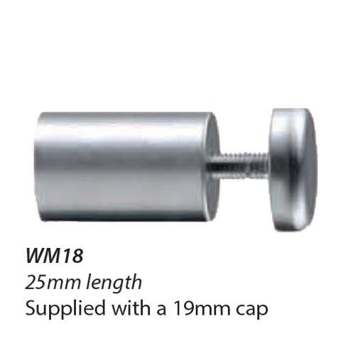 WM18-16mm diameter Standoff 25mm length with 19mm Cap 1