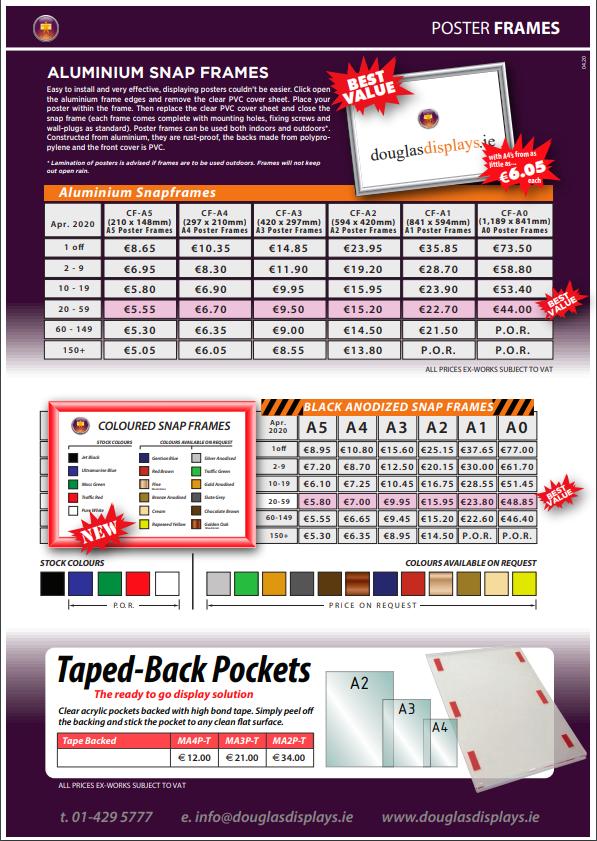Snap Frames & Acrylic Poster Pockets