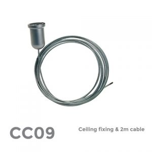 CC09 Ceiling Fixing & 2m cable