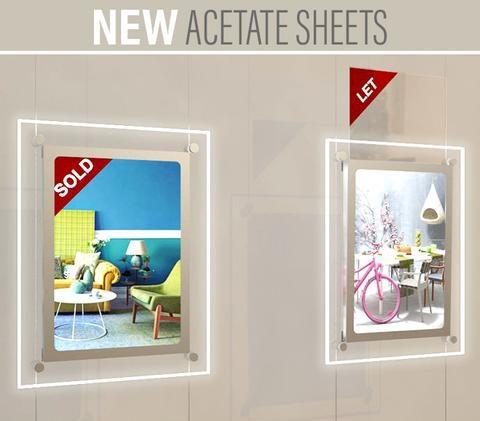 Acetate Sheets For LED Light Panel Displays 1